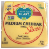 Follow Your Heart Medium Cheddar slices 200g *THT 07.09.2020*_