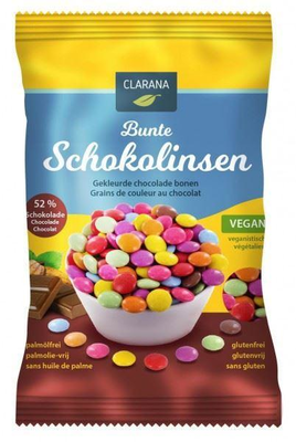 CLARANA COLOURED CHOCOLATE BEANS 125G