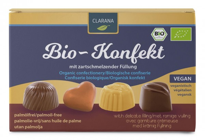 Clarana Bio Konfekt Organic Vegan Chocolate Assortment Box 125g *THT 24.01.2020*