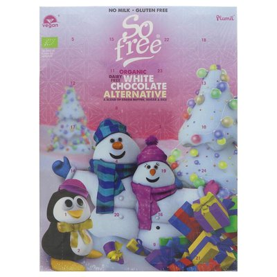 Plamil So Free White Choc Advent Calendar 100g