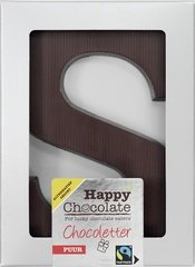 Happy Chocolate Puur Letter S alternatief gezoet 100g