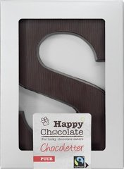 Happy Chocolate Puur Letter S 100g