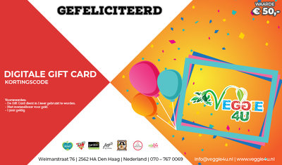 Veggie 4U Digitale Gift Card Gefeliciteerd € 50,-