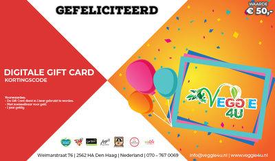 Veggie 4U Digitale Gift Card Gefeliciteerd € 50,-