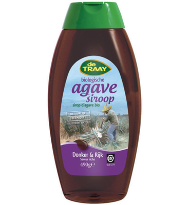 De Traay agave syrup Donker & Rijk 500g
