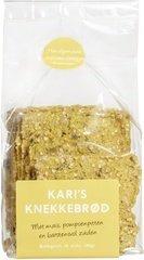 Kari's Crackers Knekkebrød met mais, pompoenpitten en barstensvol zaden 200g