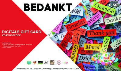 Veggie 4U Digitale Gift Card Bedankt € 50,-
