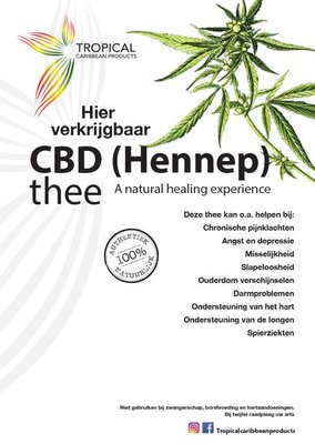 Tropical Carribean Products CBD (Hennep) thee 20g