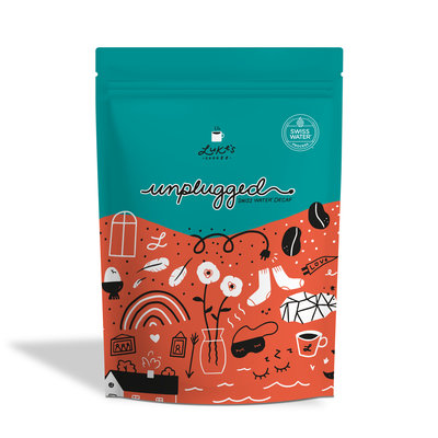 Luke's UNPLUGGED Swiss water decaf 250g