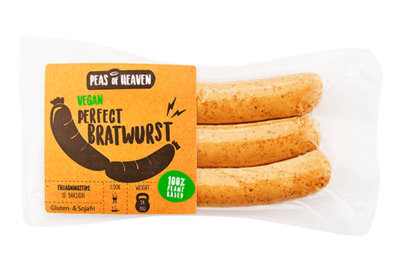 Peas of Heaven Vegan Perfect Bratwurst 210g *THT 12.10.2020*