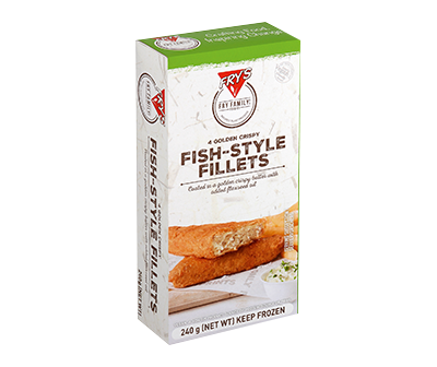 Fry's Crispy CRISPY FISH-STYLE FILLETS 250g