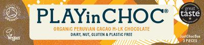 PlayinChoc Organic Peruvian Cacao M•lk Chocolate 100g