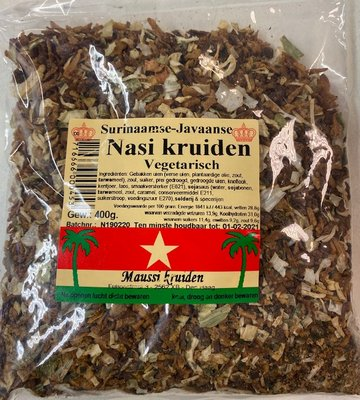 Maussi kruiden Fried rice herbs vegetarian 400g