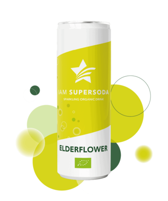 Iam Supersoda Elderflower 250ml
