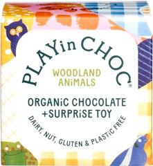 PLAYin CHOC ToyChoc Box WOODLAND ANiMALS (2 x 10g chocolate + toy)