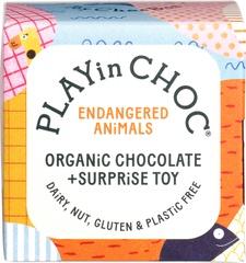 PLAYin CHOC ToyChoc Box ENDANGERED ANiMALS (2 x 10g chocolate + toy)