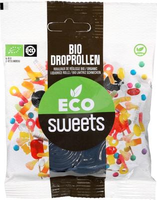 Eco Sweets Droprollen zoet 75g