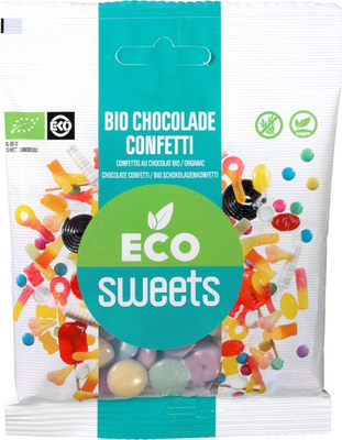 Eco Sweets Chocolade confetti puur vegan 60g
