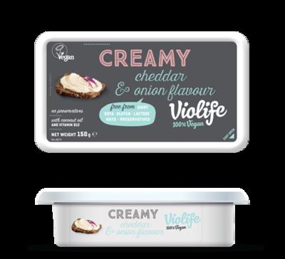 Violife Creamy Cheddar and Onion 150g
