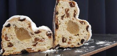 Veggiesaurus Heerlijk Vegan kerstbrood (met Amarena kersen) 200g  *THT 26.12.2020*