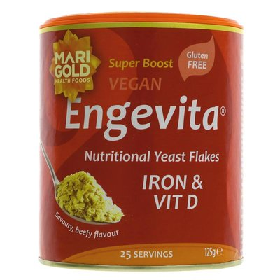 Marigold Engevita Yeast Flakes - Iron & Vit D 125g