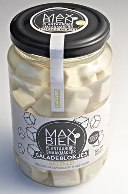Max&Bien Saladeblokjes op olie naturel 350g *THT 18.08.2021*
