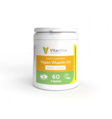 Vegetology Vitashine Vegan Vitamin D3 1000iu 60 tabs