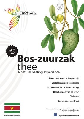 Tropical Caribbean Products Bio Bos-zuurzak thee 25g