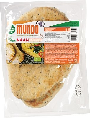 O Mundo Naanbrood knoflook-koriander 240g