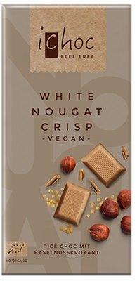 Vivani ichoc Organic White Nougat Crisp  80g