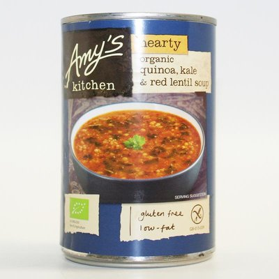 Amys Kitchen Quinoa Kale & Red Lentil Soup 408g