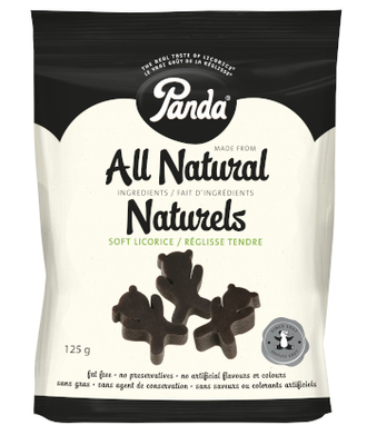 Panda All Natural Liquorice Bears 125g