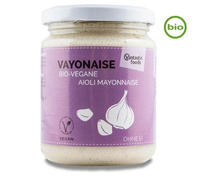 Vantastic Foods Bio vayonaise Knoflook Aioli 225ml *THT 18.07.2020*