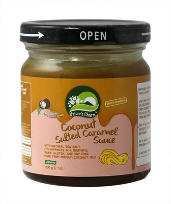 Nature's Charm Coconut Cocos salted caramel sauce 200g