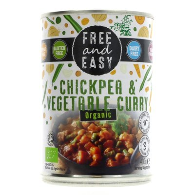 Free & Easy Chick Pea/Vegetable Curry organic 400g
