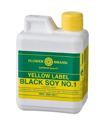 Flowerbrand Yellow Label Black soy no.1 500ml