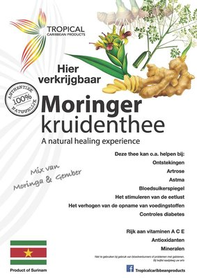 Tropical Caribbean Products Bio Moringer Kruidenthee 25g