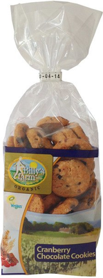Billy'S Farm Cranberry Chocolate cookies 175g