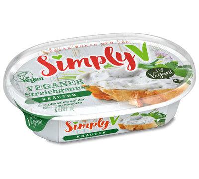 Simply V Veganer Streichgenuss Spread Herbs 150g *THT 10.07.2019*