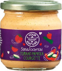 Your Organic Nature Sandwichspread tomaat-paprika-courgette 180g