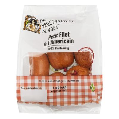 De Vegetarische Slager Petit filet à l'Americain 5x24g *THT 11.04.2020*