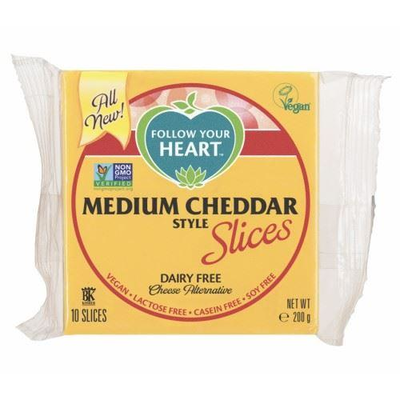 Follow Your Heart Medium Cheddar slices 200g *THT 07.09.2020*