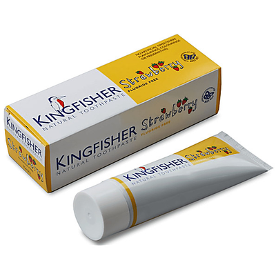 Kingfisher Kindertandpasta Aardbei- zonder fluoride 75ml