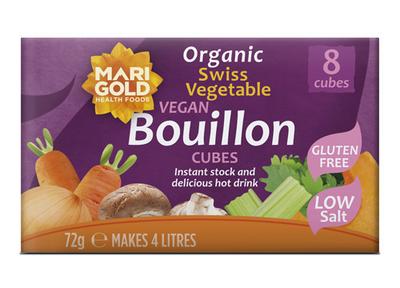 Marigold Cube Bouillon GV en laag zoutgehalte 72g
