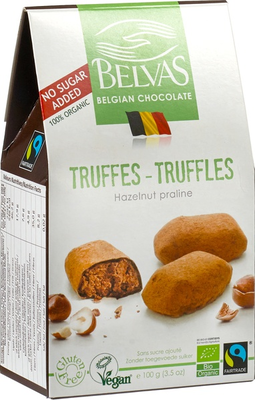 Belvas Hazelnoot truffels 100g