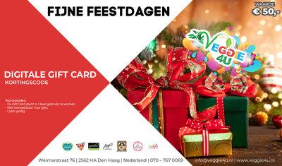 Veggie 4U Digitale Gift Card Fijne Feestdagen € 50,-