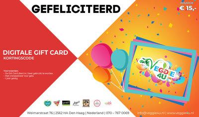Veggie 4U Digitale Gift Card Gefeliciteerd € 15,-