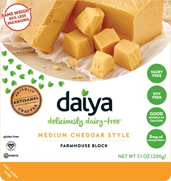 Daiya Medium Cheddar Style Farmhouse Block 200g