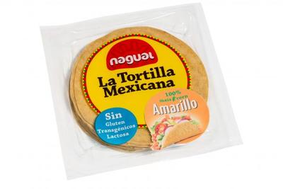 Nagual La Tortilla Mexicana Amarillo (8stuks) 15cm 200g  *THT 10 april 2019*