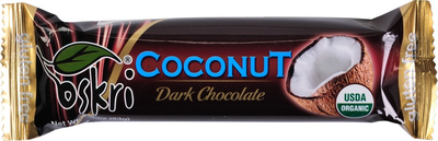 Oskri Coconut dark chocolate 53g